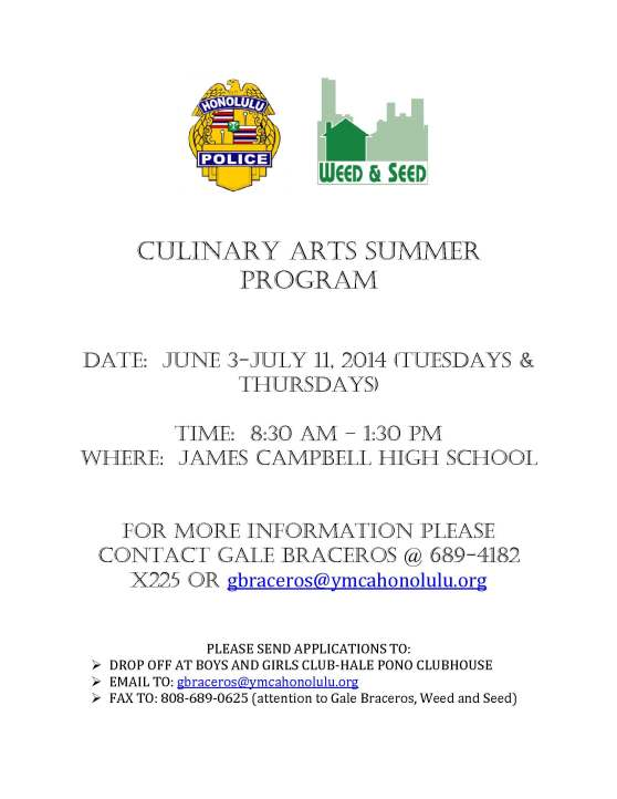 CULINARY ARTS SUMMER PROGRAM